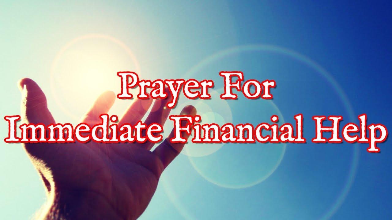 <pre><pre> Oración para obtener asistencia financiera inmediata: esto es lo que debe hacer