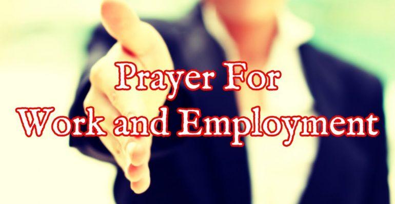 Oración por el trabajo - Oración milagrosa por el trabajo