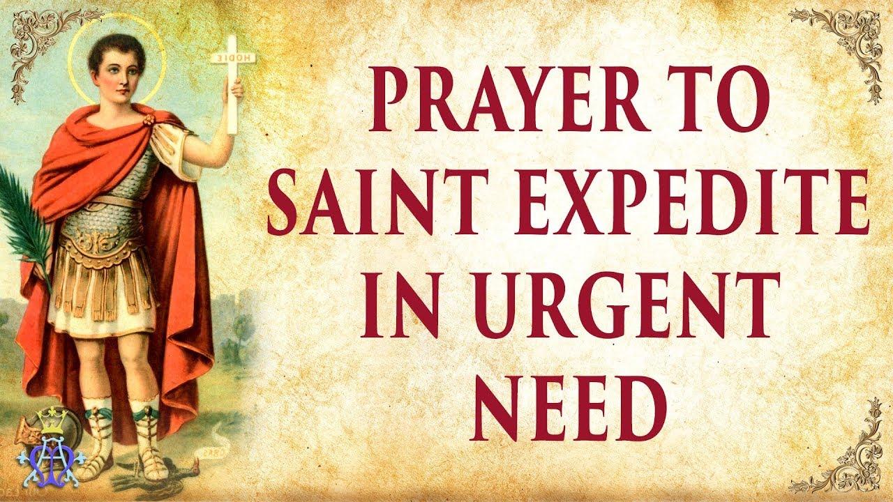 <pre><pre> Oración a San Expedito - necesidad urgente